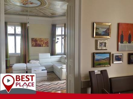 Voll möblierte, neuwertige 3 Zimmer Altbauwohnung im Zentrum von Klagenfurt.