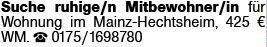 Mietwohnung in Mainz (55129)