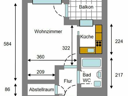 Ulm Böfingen, 1 Zi. Whg.