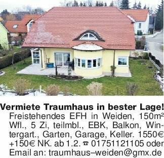 Vermiete Traumhaus in bester L...