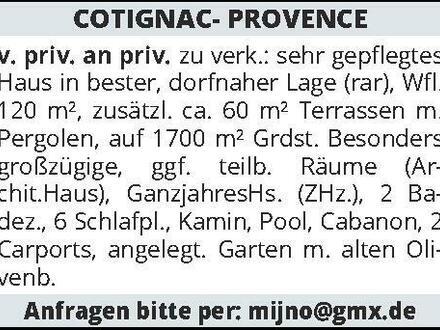 COTIGNAC- PROVENCE v.priv