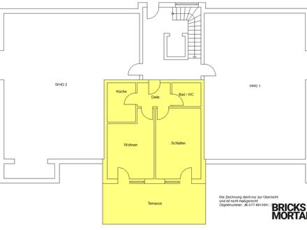 Wohnen im Alter! Sanierte 2-Zimmer-Wohnung gegenüber Tagespflege! 57m²!