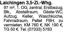 Laichingen 3,5 Zi.Whg.