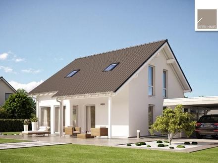 Genießen Sie laue Sommerabende auf der überdachten Terrasse Ihres neuen Zuhauses!