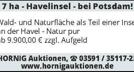 7 ha - Havelinsel - bei Potsdam