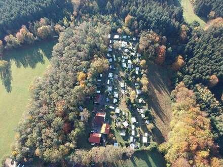 Schöner Wald-Campingplatz mit viel Erweiterungspotenzial in herrlicher ruhiger Waldlage