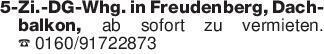 5-Zi.-DG-Whg. in Freudenberg,...
