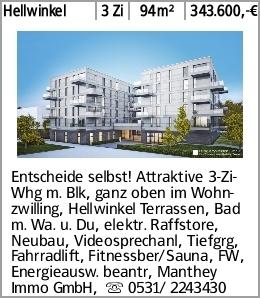 Hellwinkel 3 Zi 94m² 343.600,-€ Entscheide selbst! Attraktive 3-Zi-Whg...