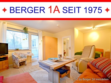 BREMEN-OSTERHOLZ: gepfl. 1-ZI. APPARTEMENT mit Balkon, EBK mit Essgelegenheit, W-Bad und Abstellraum