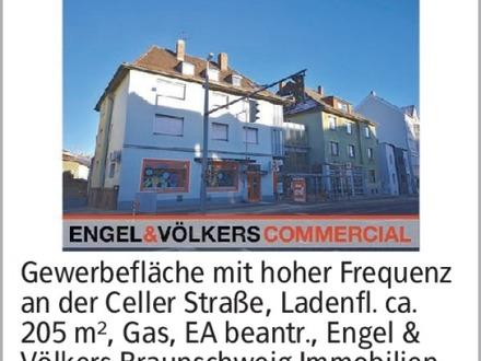 Gewerbefläche mit hoher Frequenz an der Celler Straße, Ladenfl. ca. 205...