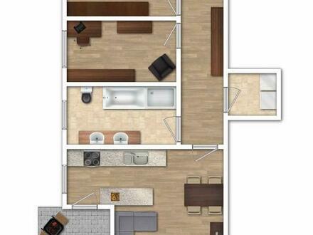 Neuwertige Wohnung mit sonnigem Westbalkon und hochwertiger Einbauküche