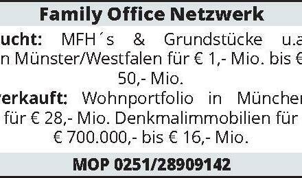 Family Office Netzwerk sucht