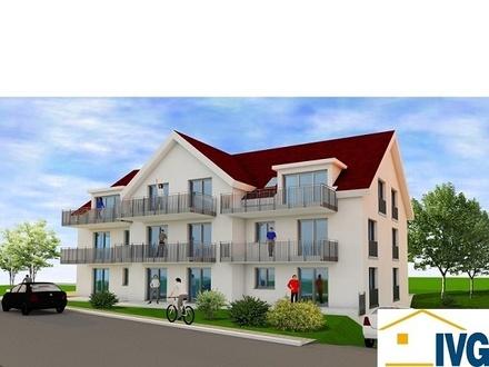 """Wohnen """"Am Dorfplatz"""" in Arnach: 3-Zimmer-Wohnung im Neubauobjekt in sonniger, zentraler Lage!"""