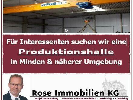 Wir suchen im Kundenauftrag eine Produktionshalle mit Kranbahn ab 2,00t!!
