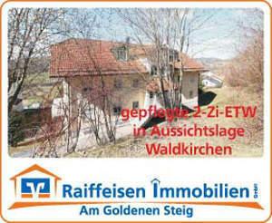 Gepflegte 2-Zimmer-ETW mit Terrasse in Aussichtslage - Waldkirchen-Zentrum