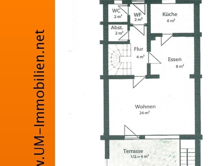 3 Zimmer Reihenmittelhaus, renoviert, mit Garten und Garage