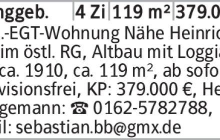 4-Zimmer Eigentumswohnung in Braunschweig (38102) 119m²