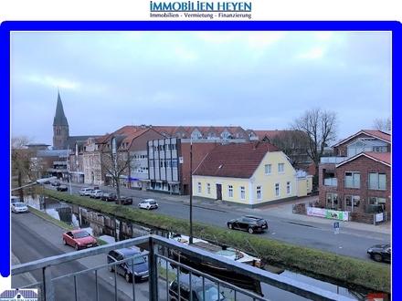 !!!Ebenerdige Wohnung mit Balkon über den Dächern von Papenburg!!!
