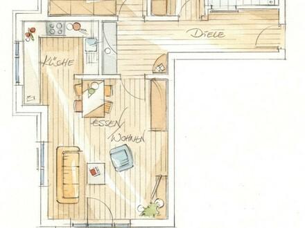Das besondere Angebot (60+) Erstbezug! Barrierefreie 3 Zimmerwohnung