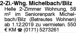 2-Zi Whg Seniorenpark Michelbach/Bilz