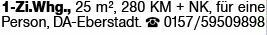 1-Zimmer Mietwohnung in Darmstadt-Eberstadt (64297)
