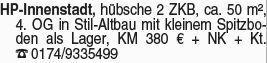 2-Zimmer Mietwohnung in Heppen (64646)