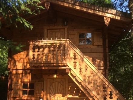 Holz Blockhaus im Troadkasten-Stil