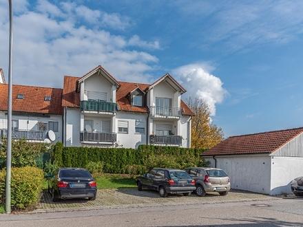 2-Zimmer-Wohnung mit Südwestbalkon und Einzelgarage in Essenbach-Ohu