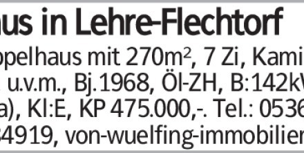 Haus in Helmstedt (38165) 270m²