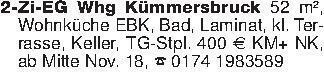 2-Zi-EG Whg Kümmersbruck 52 m²...