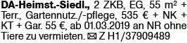 2-Zimmer Mietwohnung in Darmstadt (64295)