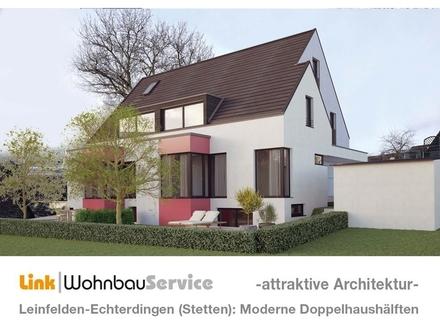 Leinf.-Echterdingen (Stetten): Waidacher Höhe - Neubau Doppelhaushälften - Architektenplanung 1