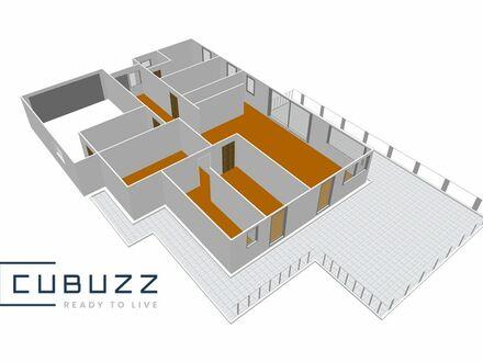 Ökologisches Wohnbauvorhaben im Grünen: Großzügiger Bungalow 177m² Wohnfläche mit Garten und Doppelgarage in 10 KM Entf…