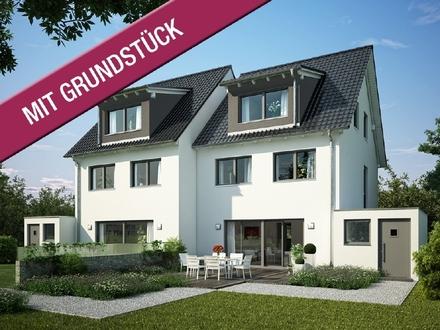 Auf gute Nachbarschaft! Massives KfW-Effizienzhaus 55 (inkl. Grundstück & Keller & Baunebenkosten)
