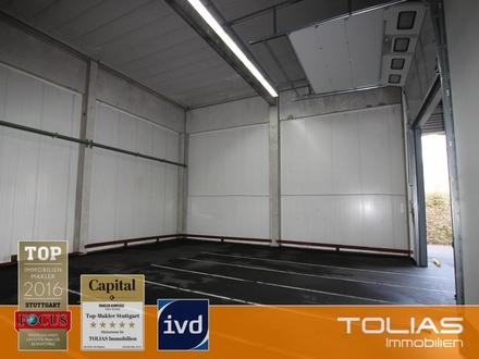Verkehrsgünstiger Standort:: 167 m² Lagerfläche, Deckenhöhe 5,5 m, sehr gute Andienung.