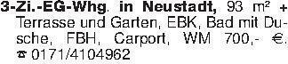 3-Zi.-EG-Whg. in Neustadt, 93...