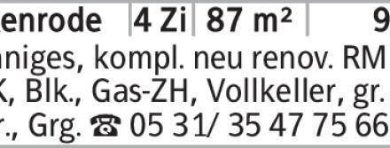 Sonniges, kompl. neu renov. RMH, EBK, Blk., Gas-ZH, Vollkeller, gr. Terr.,...