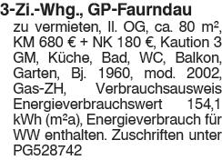 3 Zi. Whg., GP Faurndau