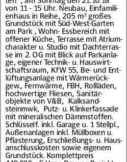 """Reislingen 5 Zi 148m² 449.000,-€ Infotag im Baugebiet """"Wiesengarten"""", am..."""