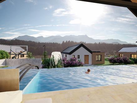 Bungalow mit Swimmingpool - Karawankenblick - Wohnen mit Ausblick M5
