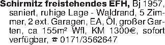 Schirmitz freistehendes EFH, B...