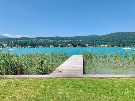 Velden am Wörthersee - Rarität: Teilmöblierte Doppelhaushälfte mit privatem Seezugang