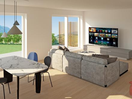 4-Zimmer-Wohnung mit Doppelhaushälftencharakter und großem Garten