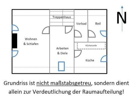 Single geeignet, grundrenov. 70 m² Whg. zu vermieten