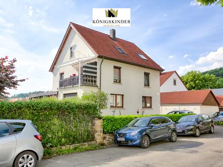 Sonnige 3 Zi.-EG-Wohnung mit Balkon, Wintergarten und Garten - im gepflegten 2 Fam.-Haus in Süßen
