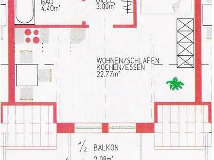 schöne 1 Zimmerwohnung - 31qm, Ortsmitte, Kösching