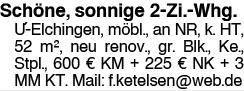 Unterelchingen 2 Zi. Whg