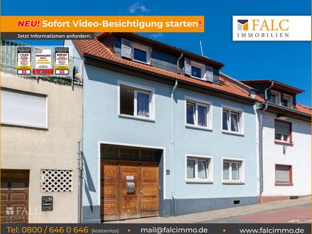 Hier ist Platz für die Großfamilie - Großes Haus mit Nebengebäude im Zentrum von Bensheim