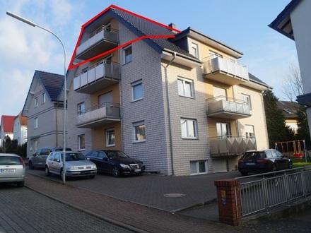 Penthouse Wohnung mitten in Gohfeld mit Balkon und ca. 58 m² Wohn und 70 m² Nutzfläche