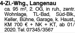 4-Zi.-Whg., Langenau